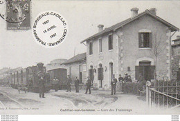 D33  CADILLAC- SUR- GARONNE  Gare Des Tramways  ...... - Cadillac
