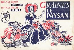 Buvard & Blotter - Les Graines LE PAYSAN - Illustration Jardinière - Légumes Fleurs - Non Classés