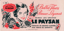 Buvard & Blotter - Les Graines LE PAYSAN - Belles Fleurs Beaux Légumes - Non Classés