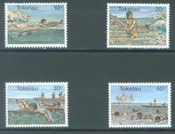 TOKELAU - MNH/** - 1980  - SURFING SWIMMING - Yv 73-76 -  Lot 23434 - Tokelau