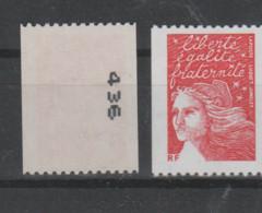"""FRANCE / 2001 / Y&T N° 3418b ** : Luquet """"RF"""" TVP LP Roulette (n° Noir à Droite) X 1 - Nuevos"""