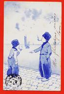 VaN153 ⭐ Brüder KOHN Wien Ethnic Nederlands (9) Kinderen Die Nederlandse Tabak Roken 1904 à Germaine LORON B.K.W.I 598-1 - Altre Illustrazioni