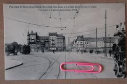 MOLENBEEK : Vue Prise à La Place SAINCTELETTE En 1914 - Le Tram Chocolat,  La Ligne B Et Au Fond L'église ST  REMI - Uccle - Ukkel