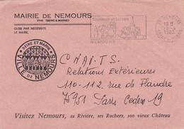 Lil3AI31  Secap NEMOURS (77) Tourisme Et Loisirs/ Lettre De Mairie 19-04-1983 - Mechanische Stempels (reclame)