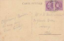 HAUTE SAVOIE CP 1947 ARACHES RECETTE DISTRIBUTION - 1921-1960: Modern Period