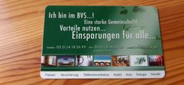 BVS Membership Card Germany - Muster / Sample - Altri
