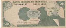 BANCONOTA VENEZUELA 20 VF (HB363 - Venezuela