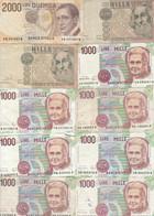 10 BANCONOTE 1000-2000 ITALIA VF (HB369 - Otros