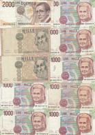10 BANCONOTE 1000-2000 ITALIA VF (HB366 - Otros