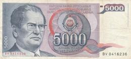 BANCONOTA JUGOSLAVIA 5000 VF (HB380 - Yugoslavia