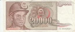 BANCONOTA JUGOSLAVIA 20000 VF (HB381 - Yugoslavia