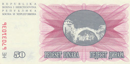 BANCONOTA BOSNIA 50 UNC (HB403 - Bosnia And Herzegovina