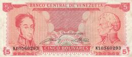 BANCONOTA VENEZUELA 5 VF (HB398 - Venezuela