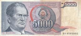BANCONOTA JUGOSLAVIA 5000 VF (HB395 - Yugoslavia