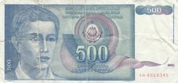 BANCONOTA JUGOSLAVIA 500 VF (HB449 - Yugoslavia