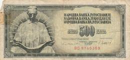 BANCONOTA JUGOSLAVIA 500 VF (HB450 - Yugoslavia