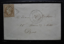 Paris Belleville Gc 432 1863, Petite Lettre Locale - 1849-1876: Classic Period