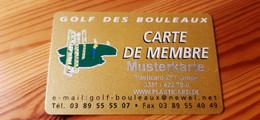 Golf Des Bouleaux Card France - Muster / Sample - Altri