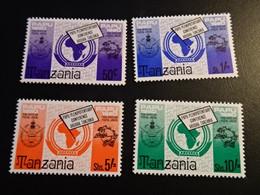 K44775 -set  MNH Tanzania 1980 - SC. 153-156 - Pan African Postal Union - Tanzania (1964-...)