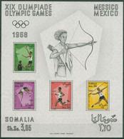 Somalia 1968 Olympische Sommerspiele In Mexiko Block 2 Postfrisch (SG29250) - Somalie (1960-...)