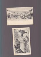 Antilles / Lot De 2 CP / Marchande De Bananes, Pub Rhum Chauvet, Port Au Prince, - Altri