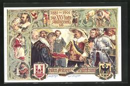 Künstler-AK Ganzsache Bayern PP15C89: Rothenburg, XXV. Jährige Aufführung Des Histor. Festspiels Meistertrunk 1905 - Stamped Stationery