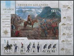 Argentine - 2017 - Yt BF 159 - Bicentenaire De La Traversée Des Andes - ** - Unused Stamps