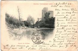 4NE 317 CPA - BOURBON L'ARCHAMBAULT - ENTREE DU CHATEAU - Bourbon L'Archambault