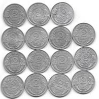 2 FRANCS * MORLON *..LOT DE 17 PIECES EN TTB +....1945X3 -46X1 -47X3- 47 B X3-  48X3- 48 B X1- 49X1- - I. 2 Francs