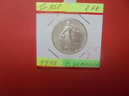 FRANCE 2 Francs 1910 ARGENT (A.4) - I. 2 Francs