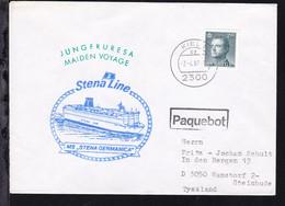 R1 Paquebot + OSt. Kiel 7.4.87 + Cachet Jungfernreise MS Stena Germanica - Unclassified