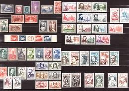 FRANCE - Lot De Timbres Neufs ** Des Années 1930 à 60 - Des Séries Complètes - Cote + 220 - Collections (sans Albums)
