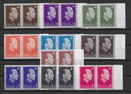 Griechenland 1964 König Mi.Nr. 835/44 Kpl. Satz Waagr. Paar ** - Unused Stamps