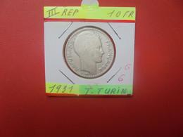 FRANCE 10 Francs 1931 ARGENT (A.4) - K. 10 Francs