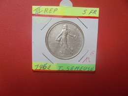 FRANCE 5 Francs 1962 ARGENT (A.4) - J. 5 Francs