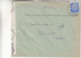 Allemagne - Empire - Lettre De 1941 ° - Oblit Welkenrath - Cantons De L'Est De Belgique - Avec Censure - - Covers & Documents