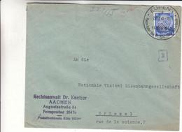 Allemagne - Empire - Lettre De 1940 ° - Oblit Eupen - Cantons De L'Est De Belgique - Avec Censure - Croix Gammée - Covers & Documents