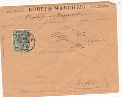 1891 UMBERTO I VALEVOLE X STAMPE 0,02 / 0,10 PACCHI PARMA X SORBOLO - Marcophilie