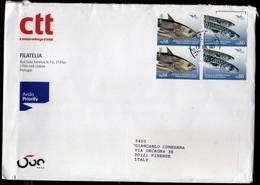 PORTUGAL PORTOGALLO 2016 EUROMED Peixes Do Mediterrâneo FISHES PESCI GAIADO KATSUWONUS CAVALA LETTER COVER LETTERA - Covers & Documents