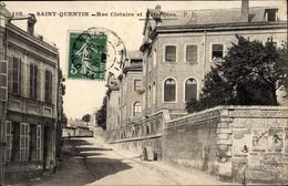 CPA Saint Quentin Aisne, Rue Clotaire, Hotel Dieu - Other Municipalities