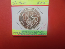 FRANCE 5 Francs 1995 ARGENT QUALITE FDC TR.LISSE (A.4) - Gedenkmünzen