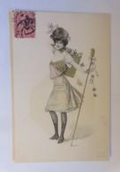Neujahr, Frauen, Mode, Glückssymbole,    1900 ♥ (38771) - 1900-1949