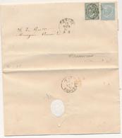 1865 VITTORIO EMANUELE II 0,15+0,05 GENOVA X CREMONA TESTO MONACHE DELLA VISITAZIONE CHE CHIEDONO AL VESCOVO VISITA DI U - Marcofilía