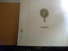 DESTOCKAGE- FRANCE GROS PAQUET DE FEUILLES LINDNER PREIMPRIMEES COULEUR  1980 A 1989 TBE - Afgedrukte Pagina's