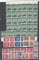 Drittes Reich , Grosses Lot Mit Postfrischen Marken , Meist Bogenteile - Unused Stamps