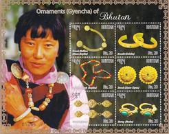ORNAMENTS OF BHUTAN- SHEETLET-LIMITED ISSUE-BHUTAN-MNH-ABHTS-57 - Bhutan