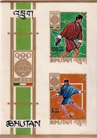 MEXICO OLYMPICS- IMPERF MS- IMPRINT-BHUTAN-MNH-ABHTS-60 - Bhutan