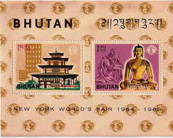 BUDDHISM- NEW YORK WORLD'S FAIR-1964-65-BHUTAN-MNH-ABHTS-59 - Bhutan