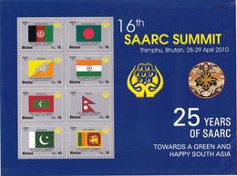 FLAGS OF SAARC COUNTRIES-LIMITED ISSUE-BHUTAN-MNH-ABHTS-53 - Bhutan