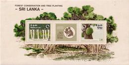 FOREST CONSERVATION AND TREE PLANTING-MS-SRI LANKA-SCARCE-MNH-ABSL-31 - Sri Lanka (Ceylon) (1948-...)